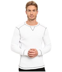 Mod O Doc Seacliff Long Sleeve Crew Thermal Crew White Men's Long Sleeve Pullover