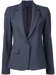 Theory Flap Pockets Fitted Blazer Grey