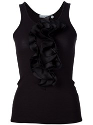Mary Katrantzou Ruffle Tank Top Black