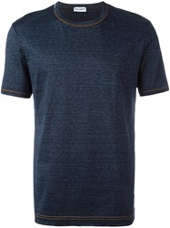 Dolce And Gabbana Underwear Trimmed T Shirt Blue