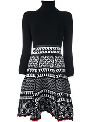 Dsquared2 Ruched Knit Pattern Dress Black