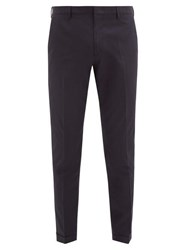 Paul Smith Turn Up Cuff Cotton Poplin Trousers Navy