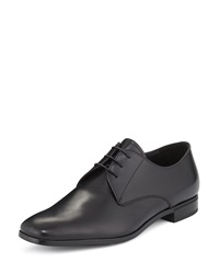 Prada Leather Lace Up Oxford Black
