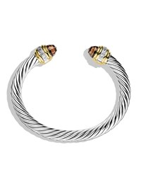 Cable Classics Bracelet With Smoky Quartz Diamonds And Gold David Yurman