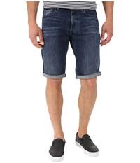 G Star 3301 Tapered Shorts In Hadron Denim Vintage Dark Aged Vintage Dark Aged Men's Shorts Blue