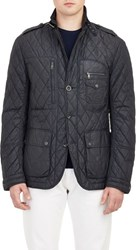 Ralph Lauren Black Label Men's Quilted Field Jacket Blue
