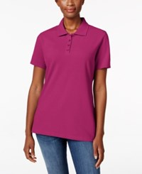 Karen Scott Short Sleeve Polo Top Only At Macy's Wild Punch