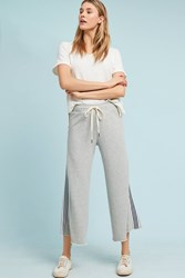 Cloth And Stone Striped Terry Sweatpants Light Grey