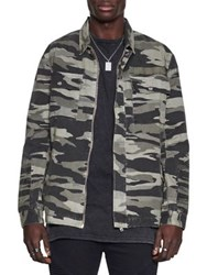 Nana Judy Cotton Camo Jacket Grey