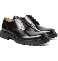 Dries Van Noten Polished Leather Derby Shoes Black
