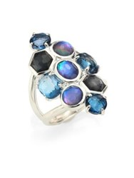 Ippolita Rock Candy Eclipse Mixed Stone And Sterling Silver Ring Silver Blue Topaz