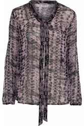 Tart Collections Snake Print Georgette Blouse Lilac