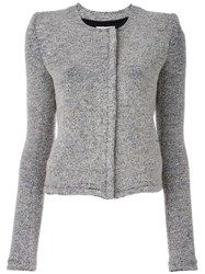 Iro Raw Edge Boucle Jacket Nude Neutrals