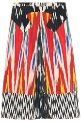 Altuzarra Toco Printed Georgette Paneled Silk Skirt