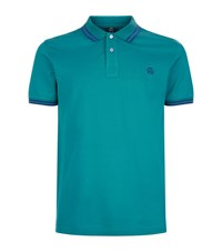 Paul Smith Ps By Tipped Collar Polo Shirt Male Green