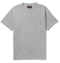 Beams Plus Loopback Cotton Jersey T Shirt Gray