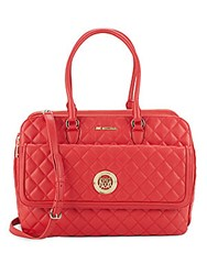 Love Moschino Diamond Quilted Shoulder Bag Red