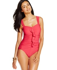 Inc International Concepts Ruffled One Piece Swimsuit Women's Swimsuit