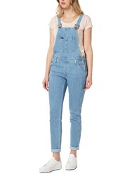 Lee Relaxed Bib Dungarees Bleached Stone