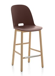 Emeco Alfi High Back Counter Stool Brown