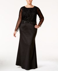 Adrianna Papell Plus Size 2 Pc. Embellished Gown Black