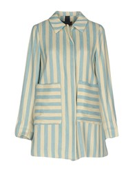 Femme By Michele Rossi Coats And Jackets Overcoats Sky Blue