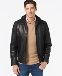 Tommy Hilfiger Big And Tall Leather Classic Jacket