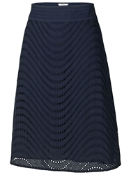 Fat Face Broderie Skirt Navy