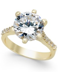 Charter Club Gold Tone Round Crystal Ring Only At Macy's