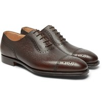 George Cleverley Adam Pebble Grain Leather Oxford Brogues Brown