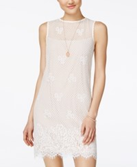 Jump Juniors' Lace Bodycon Dress Ivory Taupe