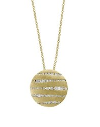 Effy Diamond Encrusted 14K Yellow Gold Pendant Necklace
