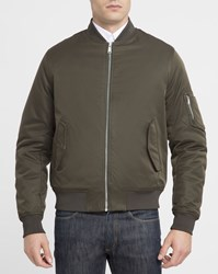 Ben Sherman Khaki Cotton Bomber Jacket