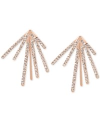 Inc International Concepts Pave Fan Burst Earrings Only At Macy's Rose Gold