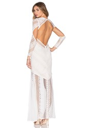 Shona Joy Ambrosia Backless Maxi Dress White