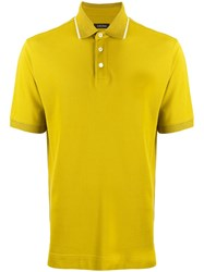 Z Zegna Short Sleeve Polo Shirt Yellow