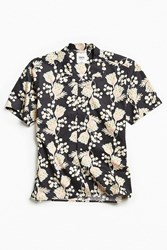 Katin Outline Short Sleeve Button Down Shirt Black