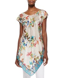 Johnny Was Hummingbird Silk Georgette Long Tunic