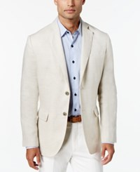 Tasso Elba Island Solid Linen 2 Button Blazer Natural