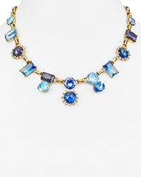 Kate Spade New York Chunky Statement Necklace 17 Blue Multi Gold