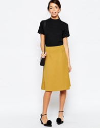 Traffic People A Line Skirt In Quilted Fabric Yellow