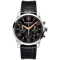 Montblanc Men's Timewalker Chronograph Alligator Strap Watch Black