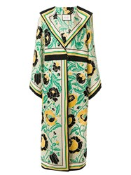 Gucci Floral Print Oversized Coat Yellow
