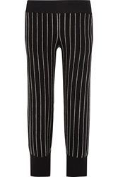 Opening Ceremony Pinstriped Cotton Blend Wide Leg Pants