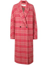 Damir Doma Loose Fit Check Coat Red