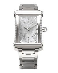 Charriol Stainless Steel Small Colvmbvs Three Hand Diamond Watch
