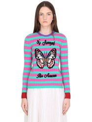 Gucci Butterfly Embroidered Cashmere Sweater
