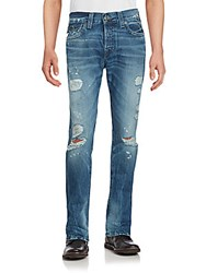 True Religion Rocco Distressed Skinny Fit Jeans Blue
