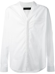 Christian Pellizzari V Neck Shirt White