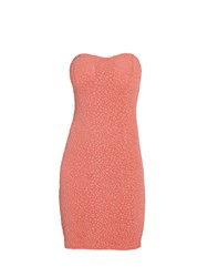 Morgan Bustier Dress With Beaded Detailing Coral